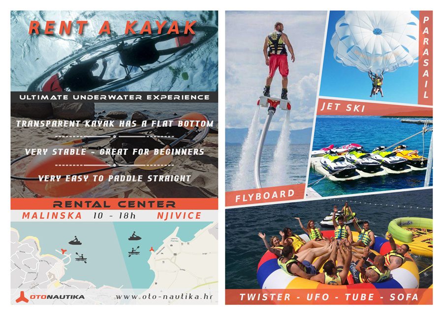 Brochure, flyer - OtoNautika rent - watersports